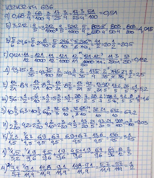 Бесплатное гдз по математике за 6 класс