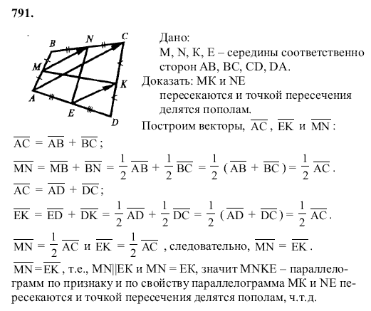 Год класс атанасян 2019 учебник геометрии 7 гдз по