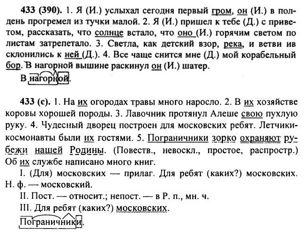 Класс русскому гдз ладыженская 431 6 по языку номер